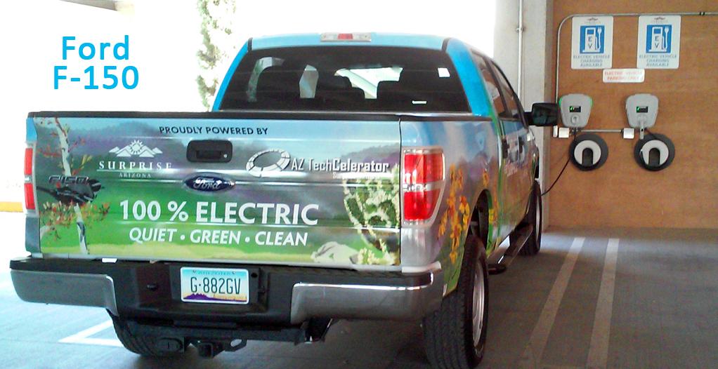 Fully electric Ford F-150 & Chevy Silverado pickup trucks